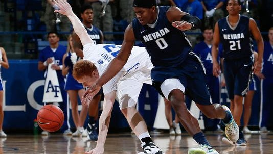 Wolf Pack forward Cameron Oliver gets a steal during their win over Air Force on Saturday.