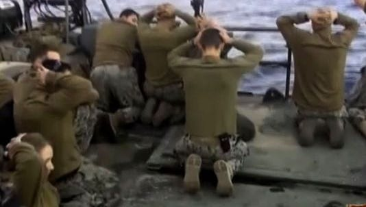 Iranian news network released image on Jan. 13, 2016, showing U.S. sailors.