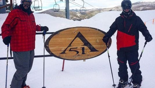 Dr. Thomas Puschak and Mike Shaw at Keystone Mountain.