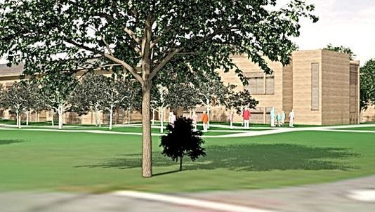 Artist rendering of proposed French-American School of New York campus in White Plains.