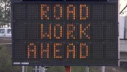 Road work is taking place in the Pensacola area.