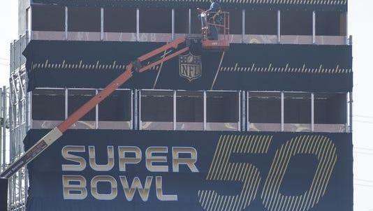 Super Bowl 50 preparations underway in Santa Clara, Calif.