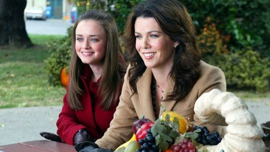 "Alexis Bledel, left, and Lauren Graham played daughter and mother on ""Gilmore Girls."""