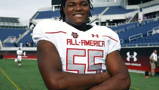 Five-star defensive lineman Rashan Gary, who won the defensive most valuable player trophy at the 2016 Under Armour All-American High School All-Star Game, will pick between Michigan, Clemson, Auburn and Alabama Wednesday on ESPN.