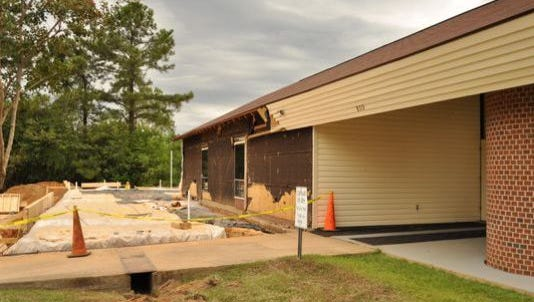 The Rapides Parish Library's J.L. Robertson Branch in Tioga, shown in this 2015 file photo during construction, plans to reopen Feb. 15 with twice as much space and lots of new amenities.