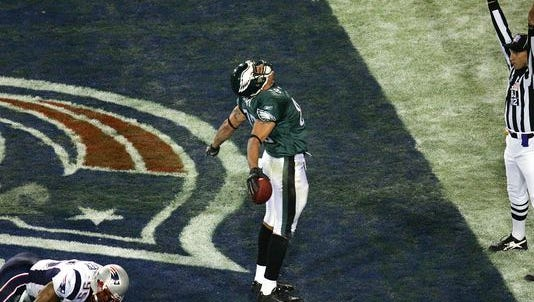 Former Philadelphia Eagles tight end L.J. Smith is the only Rutgers football product with a Super Bowl touchdown catch.