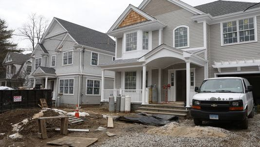 Two homes are being built on a lot at 169 Larchmont Ave., replacing one house in Larchmont.