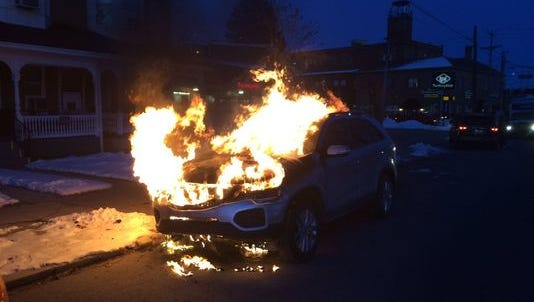 The cause of this car fire on Carlisle Road Thursday was determined to be accidental, officials said.