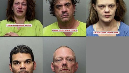 The people charged in the death of Andrea Bartmess, clockwise from top-left: Chataigner McCaffrey-Pickett, Patrick Hannon, Kimberly Guinn, Michael Bensen and Jose Rosario.