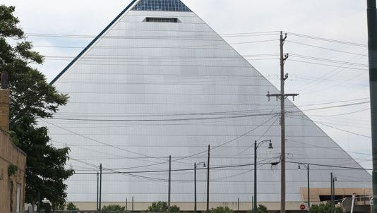 The Memphis pyramid in 2013.