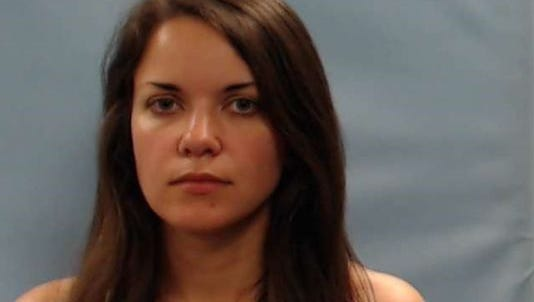 Booking photo for Laura Buckingham, accused of murder.