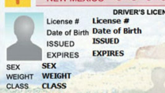 A copy of a New Mexico driver's license.