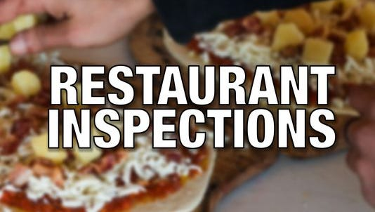 Six restaurants were out of compliance in health inspections conducted from Feb. 18 to March 7.