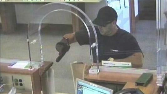 This surveillance footage was released by police after an armed bank robbery in Harrison Township on Aug. 21. Michael Fanelli, 36, of West Deptford admitted to the crime.
