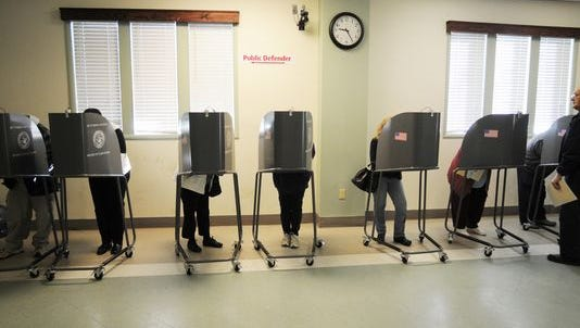 Voters cast ballots in this Journal file photo