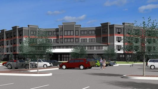 An artist's rendering of the contested west waterfront hotel proposed to be built on Sturgeon Bay's west waterfront.