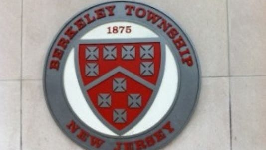 Berkeley Township seal on town hall, Pinewald-Keswick Road.