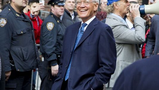 David Letterman in 2014. Quite a different look now.
