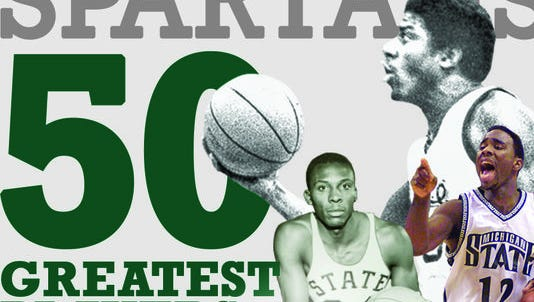 MSU's 50 greatest players illustration from 2014.