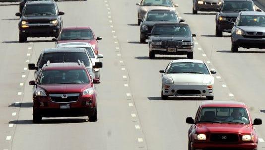 Traffic on I-69.