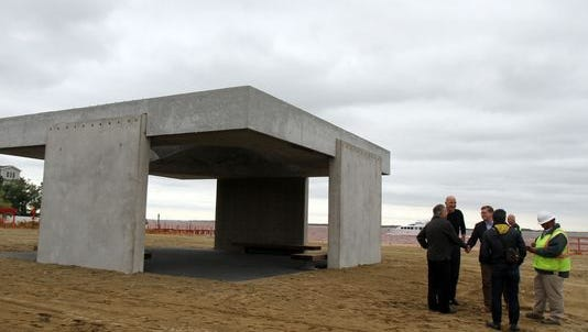 """The monument to superstorm Sandy survivors known colloquially as """"Shorehenge."""""""