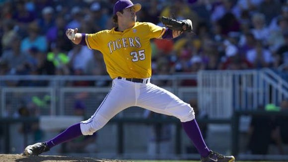 LSU sophomore Alex Lange was the named the nation's best freshman pitcher by Collegiate Baseball in 2015 and had a quality start last weekend vs. Texas A&M.