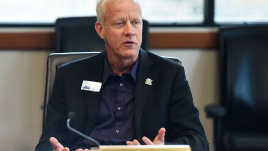 Commissioner Steve Johnson speaks at a meeting in this Coloradoan file photo. Johnson will not face a Republican primary this June.