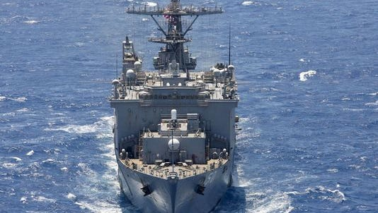 A sailor went missing Saturday afternoon from on board the dock landing ship Carter Hall.