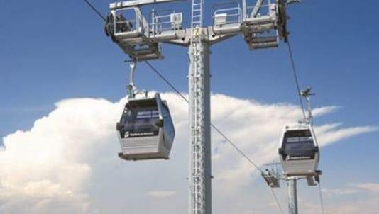 A gondola lift in South America.