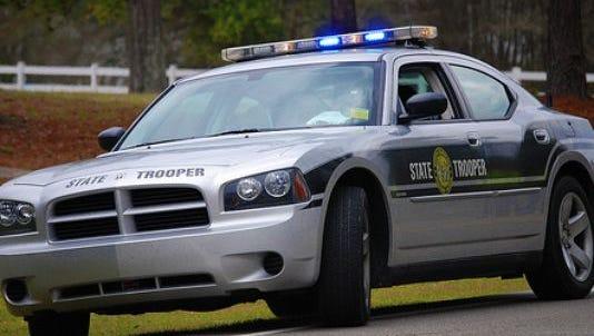State trooper highway patrol car