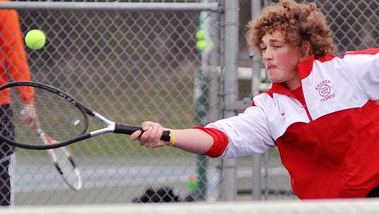 Jarrett Pollack competes in the first-ever Jim Grandy Invite last year.