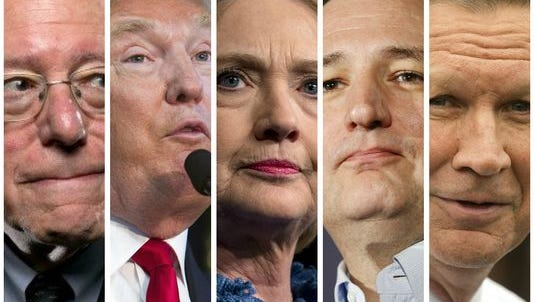 New York state voters go to the polls Tuesday to help determine the presidential nominees for both major parties.