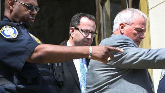 Jared Fogle after his plea hearing in August 2015.