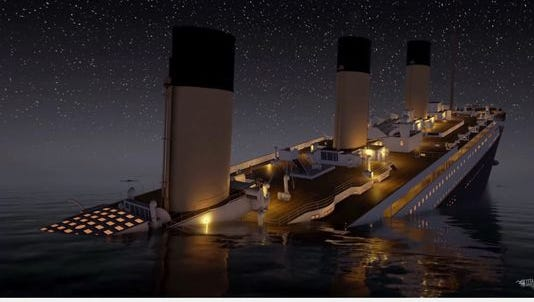An newly released animation lets viewers watch the Titanic sink in real-time.