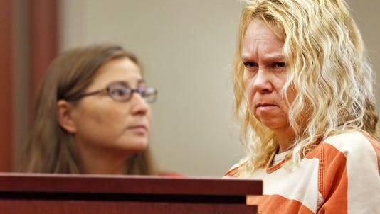 Christy Russell appears for a September preliminary hearing