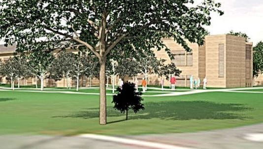 Rendering of proposed French- American School of New York campus in White Plains.