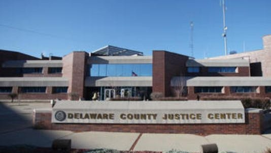 The Delaware County Justice Center, where courtrooms are located.