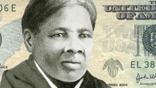 One mock-up of Harriet Tubman on the new $20 bill.