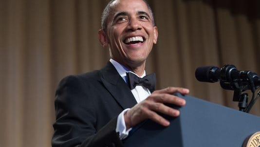 President Barack Obama speaks at the 102nd White House Correspondents' Association Dinner in Washington, DC, on April 30, 2016.