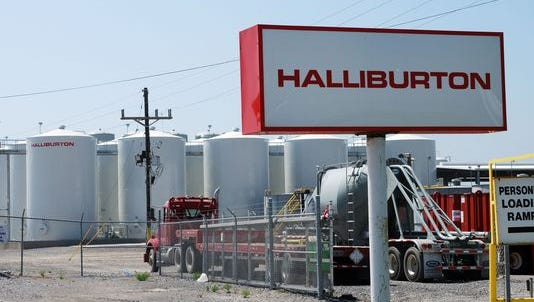 Halliburton facility in Port Fourchon, Louisiana.