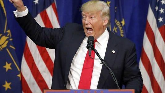 Donald Trump speaks in Indiana,
