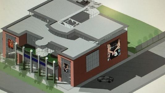 Design shows one of five theaters planned for the former West End school.