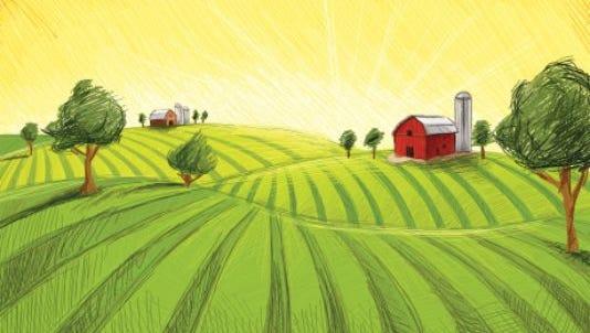 Farm scene.
