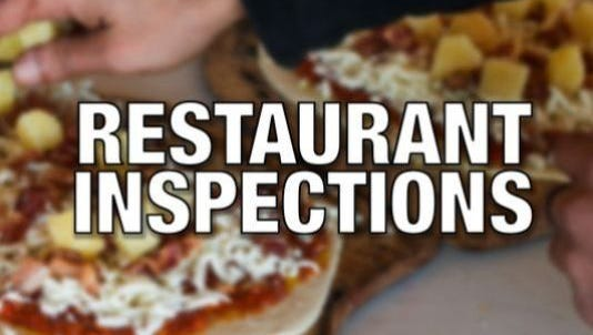 Two restaurants were out of compliance during health inspections conducted from April 21 to May 11.
