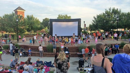 Inflatable playhouses and games bring families out to Greer City Park at 6 p.m. Thursdays over the summer before the Moonlight Movies begin showing at dusk.