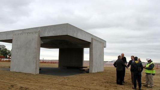 The Tilt-Up Sandy Memorial, known as Shorehenge