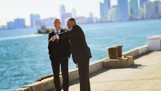 Florida Gov. Rick Scott  and Enterprise Florida outgoing president Bill Johnson.