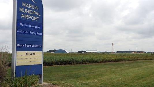 Marion Municipal Airport on Pole Lane Road.