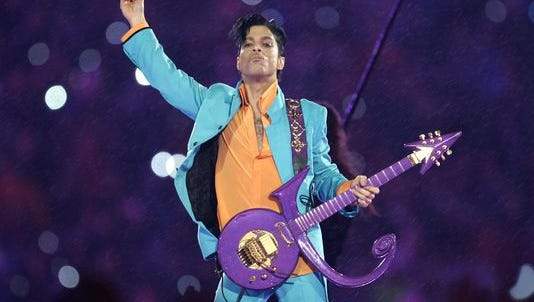 Prince, pictured in February 2007 during the Super Bowl XLI halftime show, died of a Fentanyl overdose, according to a medical examiner.