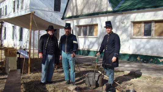 Fort Stanton enthusiasts reenact historic scenes from the fort's past in this file photo.